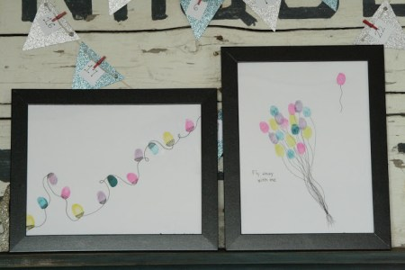 holiday gift idea - fingerprint art