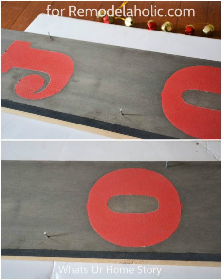 holiday sign diy @Remodelaholic
