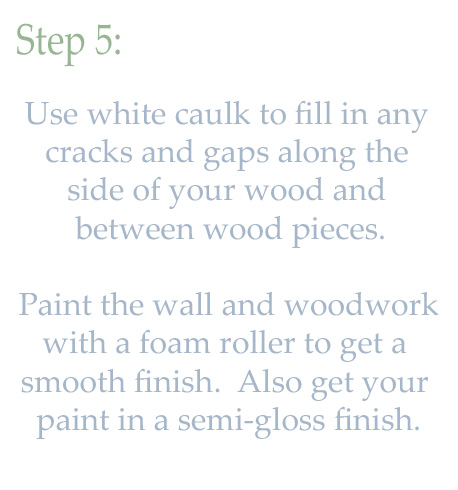 DIY woodwork trim above the fireplace mantel - tutorial step 5 - Provident Home Design featured on @Remodelaholic