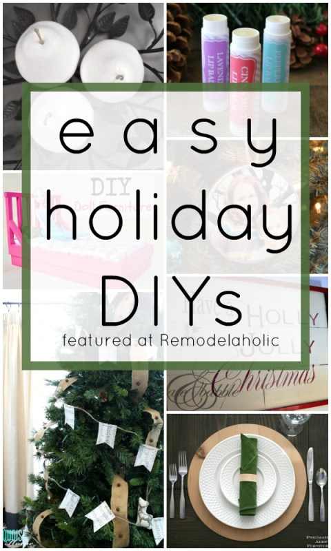 Easy Holiday DIYs via @Remodelaholic