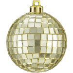 Hot Pink Christmas Disco Ball Ornament