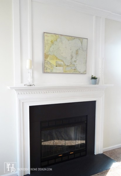Remodelaholic   How to Install a Wood Mantel on a Masonry ...