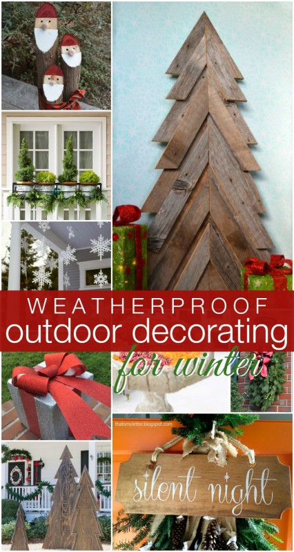 Remodelaholic  DIY Outdoor Decor for Winter