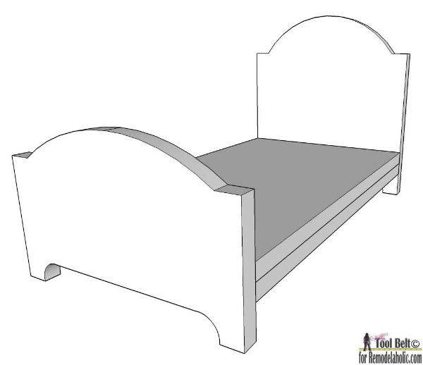 Baby Doll Bed Plans For 18 Inch Dolls Or Smaller, Beginner Woodworking Instructions And Doll Bed Template #remodelaholic
