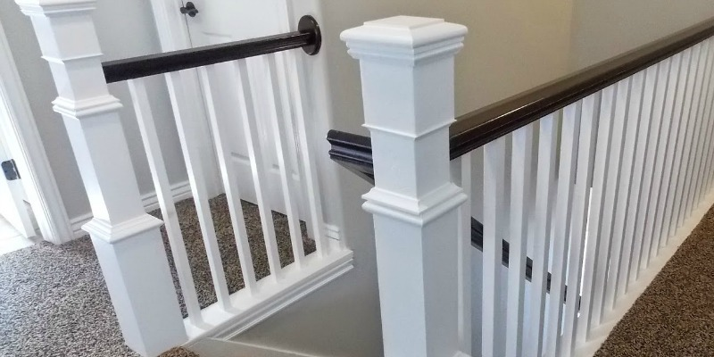 Remodelaholic | Stair Banister Renovation Using Existing