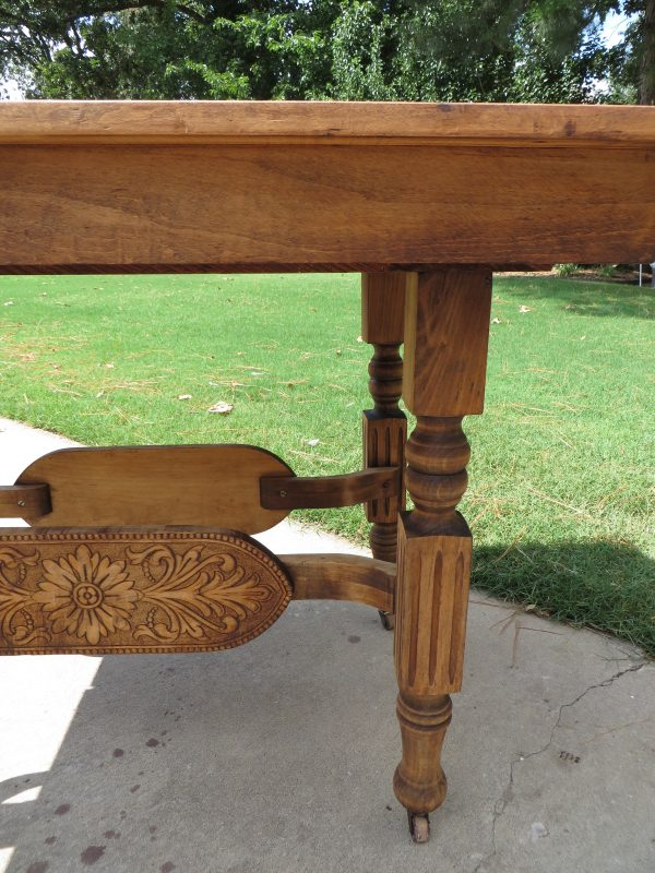 how to refinish carved wooden furniture - Beckwith's Treasures on @Remodelaholic - stripped