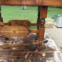 How To Refinish Wood Chairs Coleman Deck Chair With Table Khaki Remodelaholic Step By Furniture