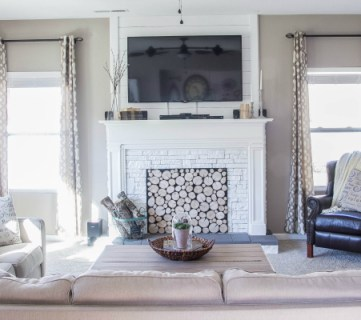 How to Build a Faux Fireplace and Mantel