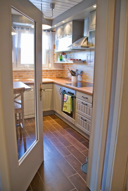 small kitchen remodel - Pudel-design featured on @Remodelaholic