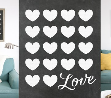Chalkboard Love Print @Remodelaholic