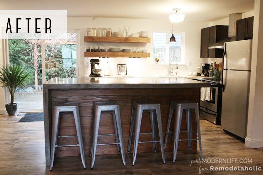Remodelaholic | DIY Concrete Kitchen Island Reveal + How-To