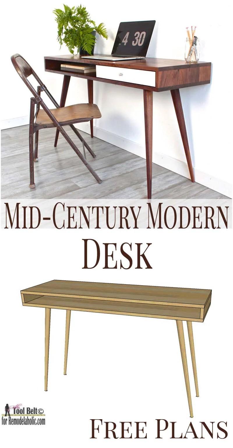 Pleasing Remodelaholic Diy Mid Century Modern Desk Squirreltailoven Fun Painted Chair Ideas Images Squirreltailovenorg