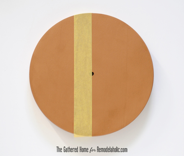 DIY Two-Tone Copper Clock | Remodelaholic.com #anthropologie #clock #knockoff