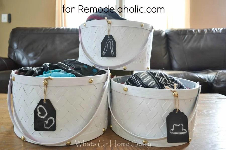 diy painted storage baskets