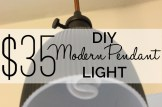 DIY Modern Pendant Light