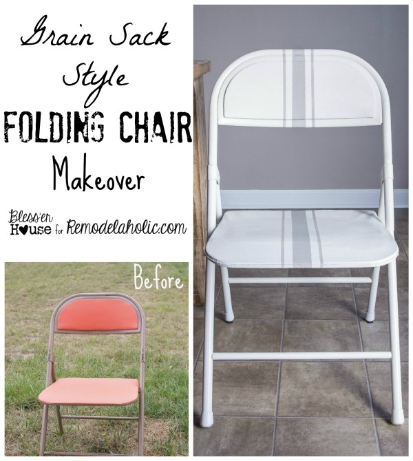 Painted Folding Chair Makeover | Remodelaholic.com