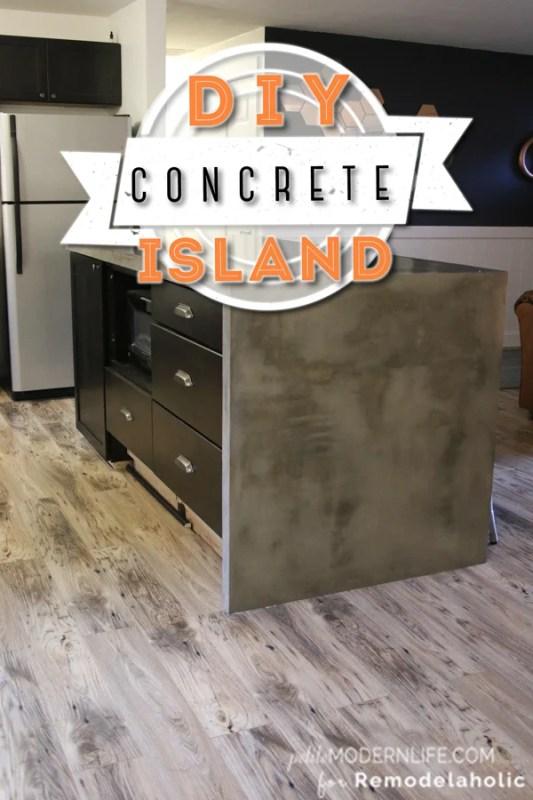 DIY Concrete Island