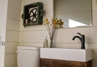 Rustic Floating Bathroom Vanity