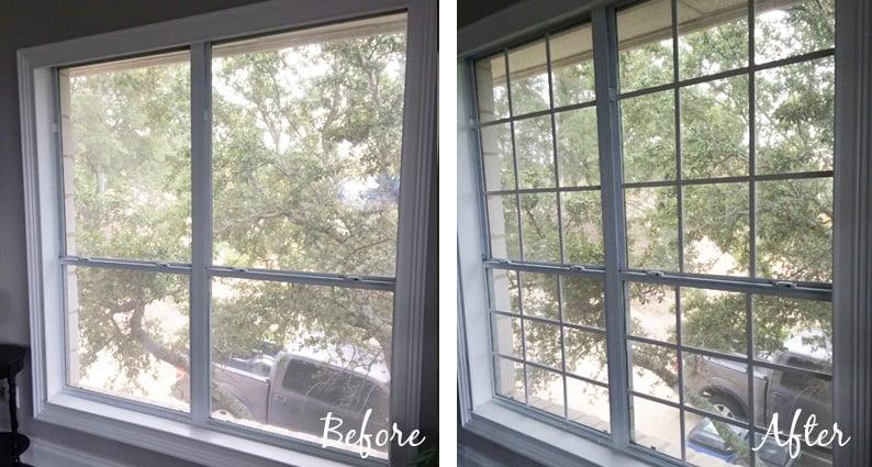 Remodelaholic  DIY Custom Window Mullions Grids