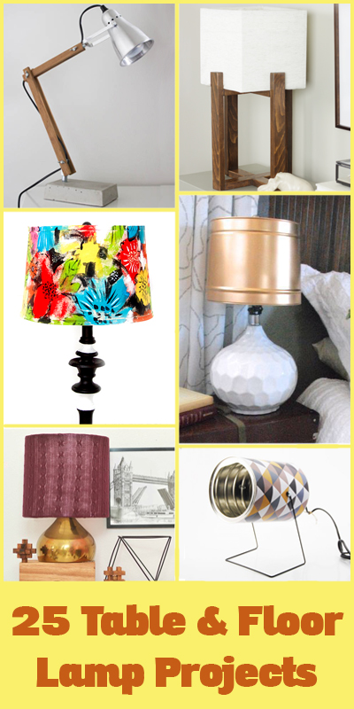 25 Awesome Table and Floor Lamp DIY Projects @Remodelaholic