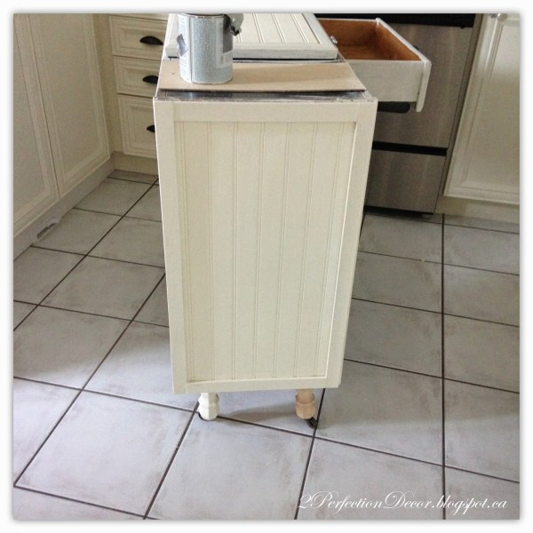 Adding legs to kitchen island02 by 2Perfection Decor featured on @Remodelaholic
