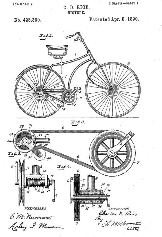 Vintage Printable Bicycle Diagram