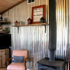 Corrugated Steel Chair Rail Stressless Reviews Remodelaholic Diy Tin Wall Tutorial The Weekend Country Girl Featured On