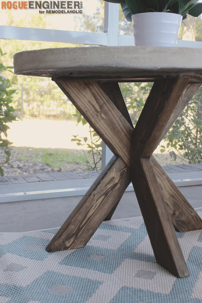 Outstanding Remodelaholic Build It X Brace Concrete Side Table Home Interior And Landscaping Oversignezvosmurscom