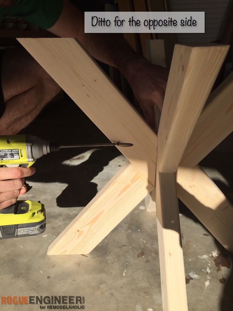 DIY X-Brace Concrete Side Table Plans | Step 8