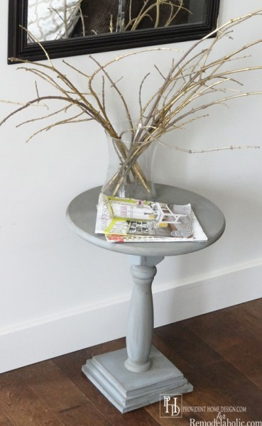 Remodelaholic build a diy mid century modern side table for Diy square pedestal table