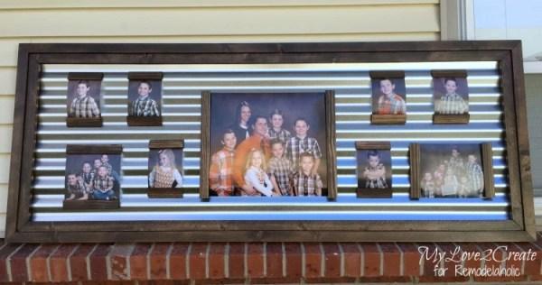 front view corrugated metal metallic frame