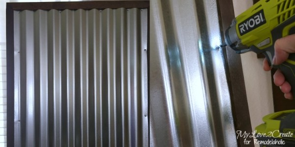 removing corrugated metal from frame