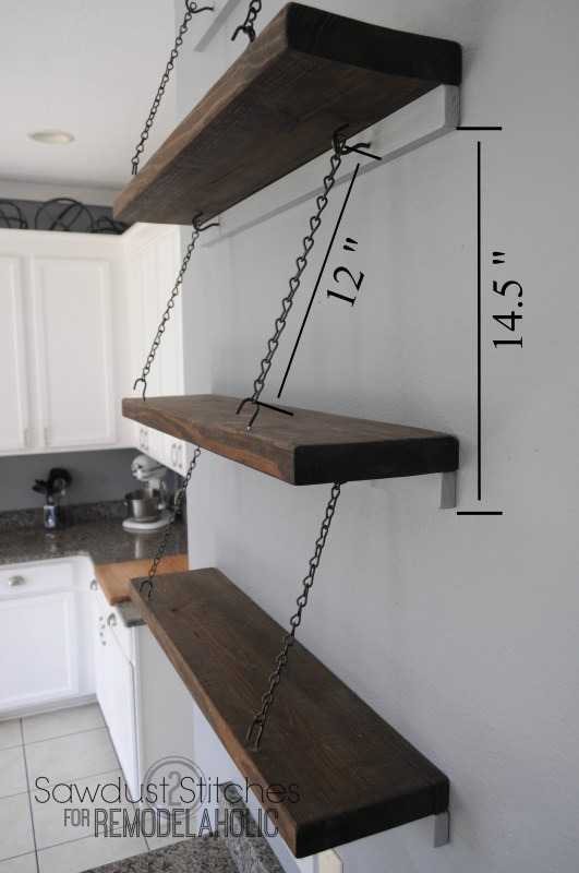 Suspended Shelving Sawdust2stitches for Remodelaholic.com plan