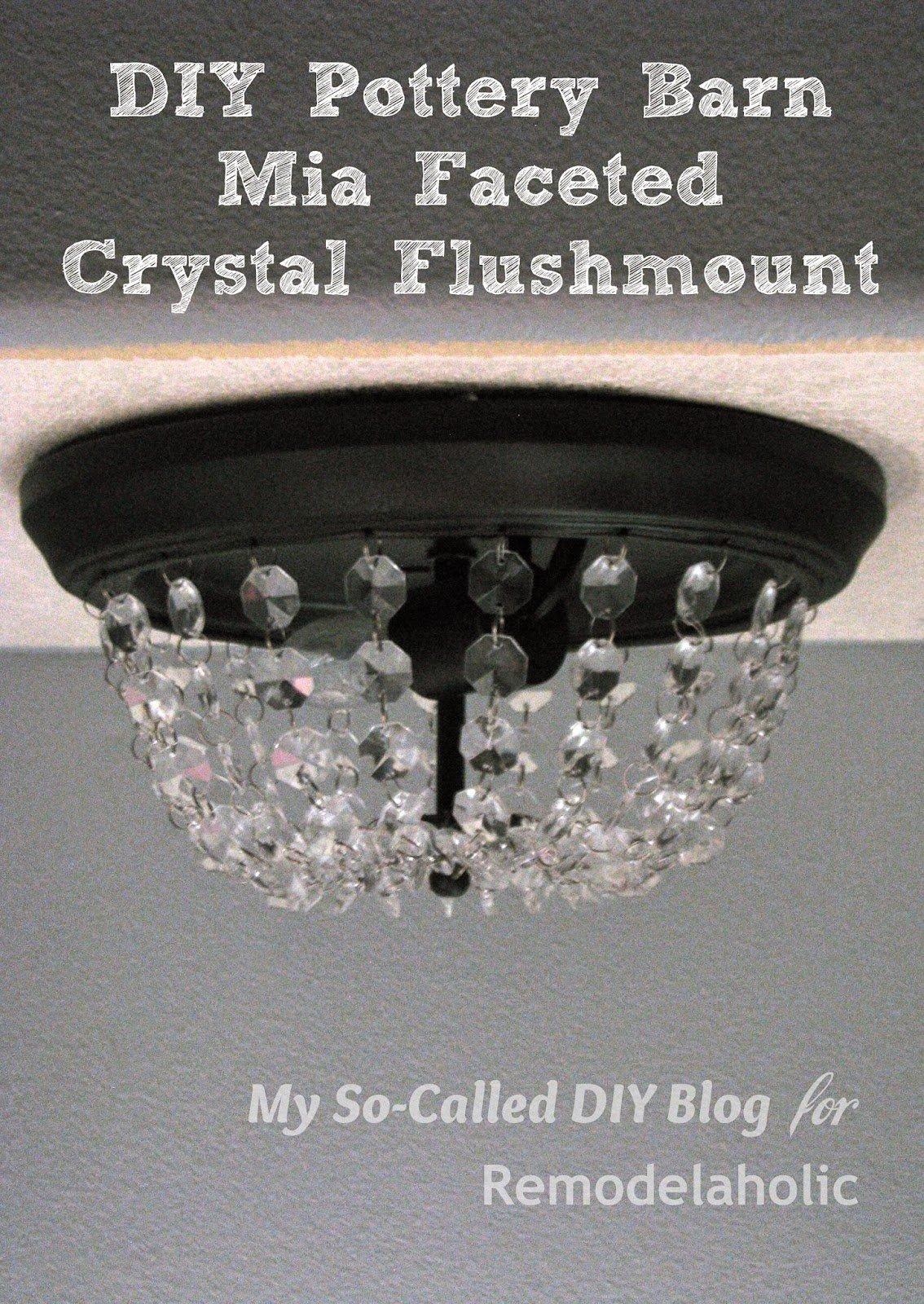 Crystal Flush Mount Ceiling Light