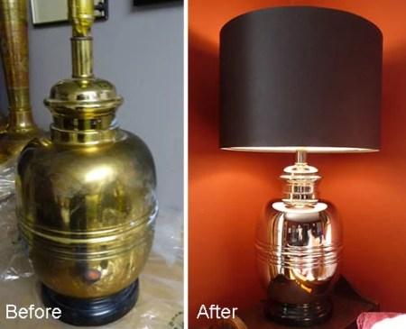 brass stripped lamp 24