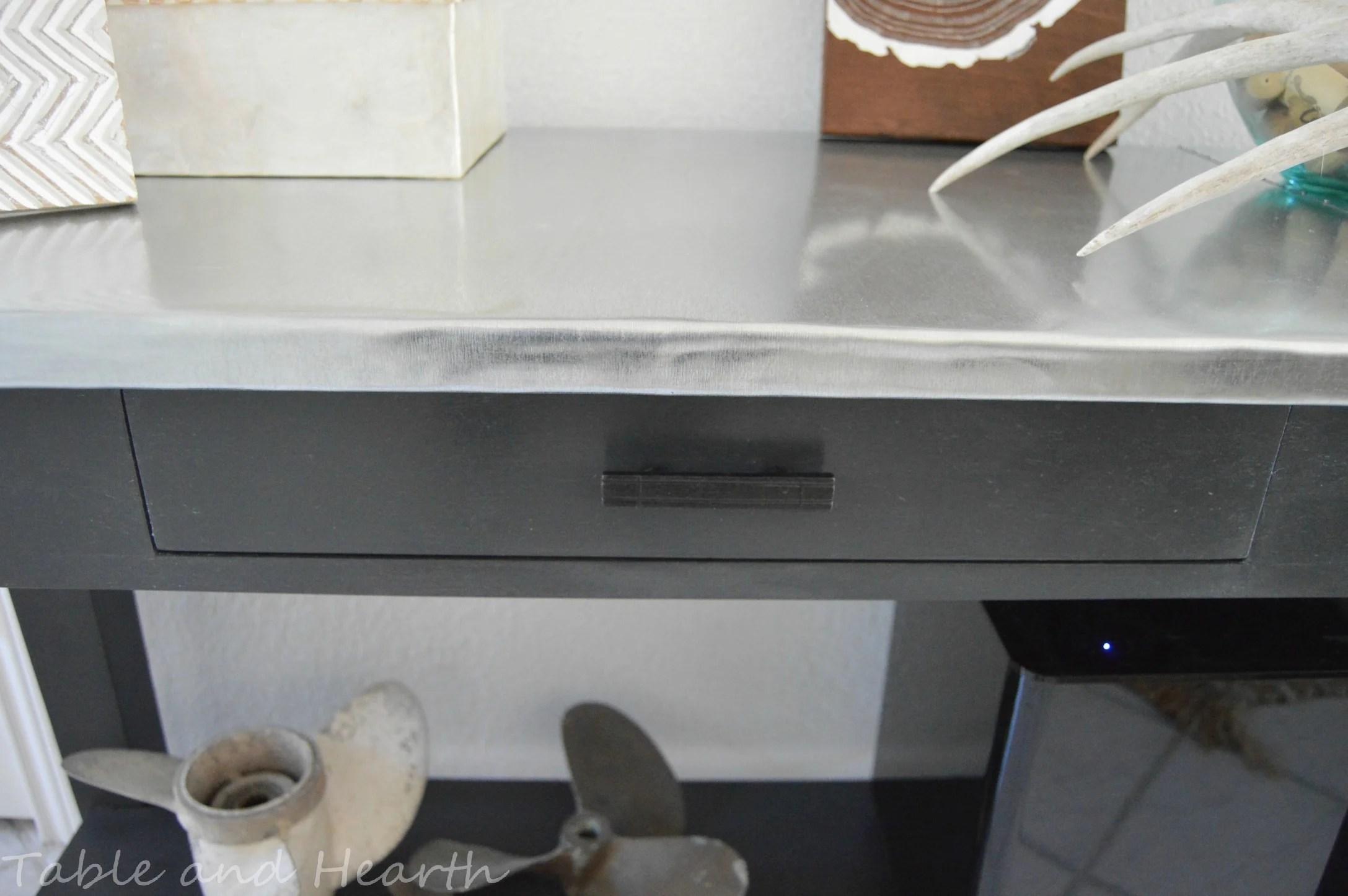 Remodelaholic Diy Metal Table Top Tutorial