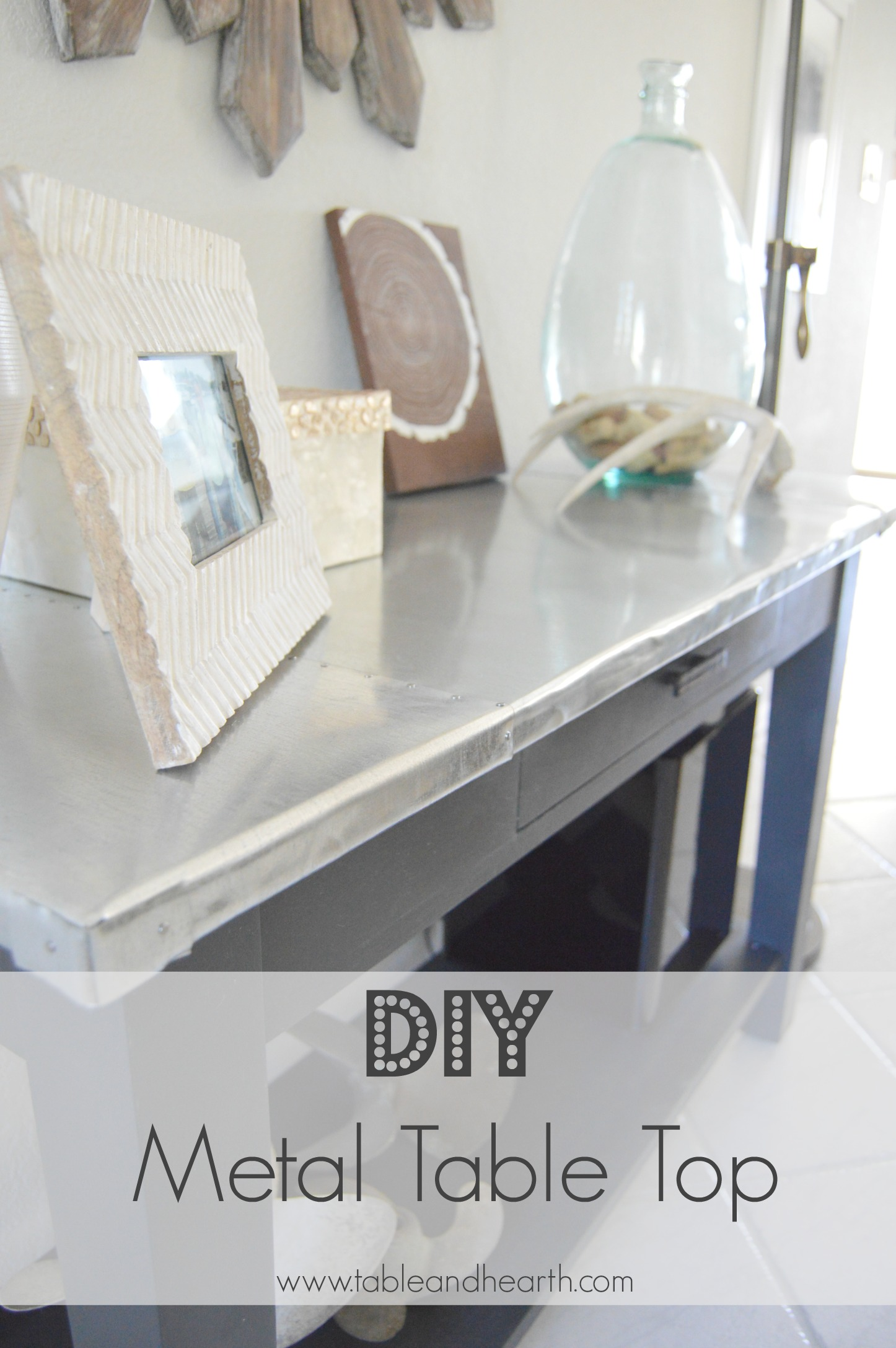Remodelaholic  DIY Metal Table Top Tutorial