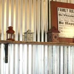 Corrugated Steel Chair Rail Wedding Cover Hire Grantham Remodelaholic Diy Tin Wall Tutorial