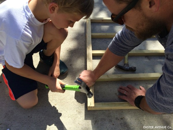 how to build a chevron lattice for garden plants, step 3 - Easter Avenue Co on @Remodelaholic