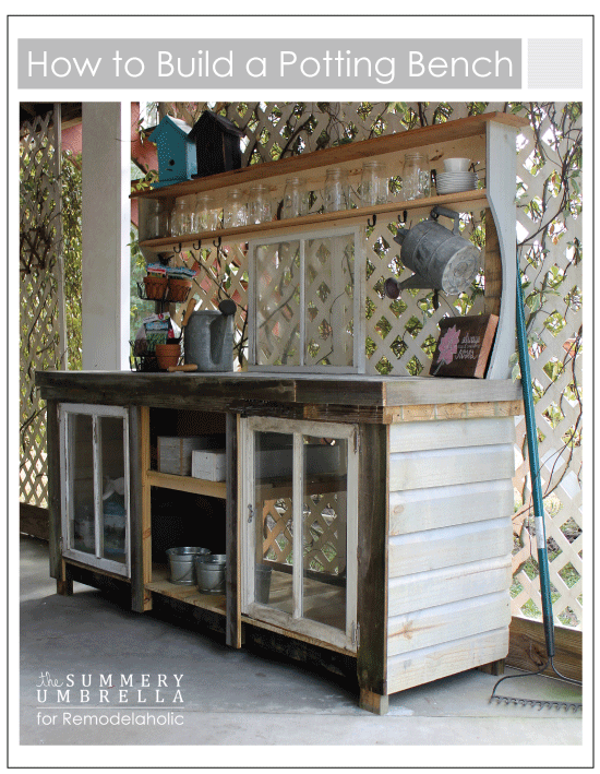 How To Build An Extra Large Potting Bench Using Reclaimed Wood And Old  Windows |