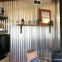 Corrugated Steel Chair Rail Phil And Ted High Nz Remodelaholic Diy Tin Wall Tutorial How To Install A Metal Treatment The Weekend Country Girl Featured On