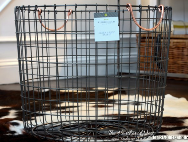rolling wire basket how-to - The Heathered Nest on @Remodelaholic