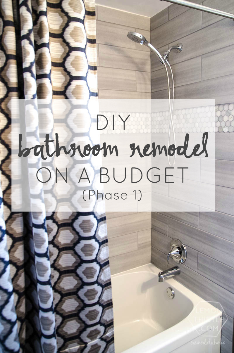 Remodelaholic DIY Bathroom Remodel On A Budget And Thoughts On - How to remodel a bathroom yourself on a budget