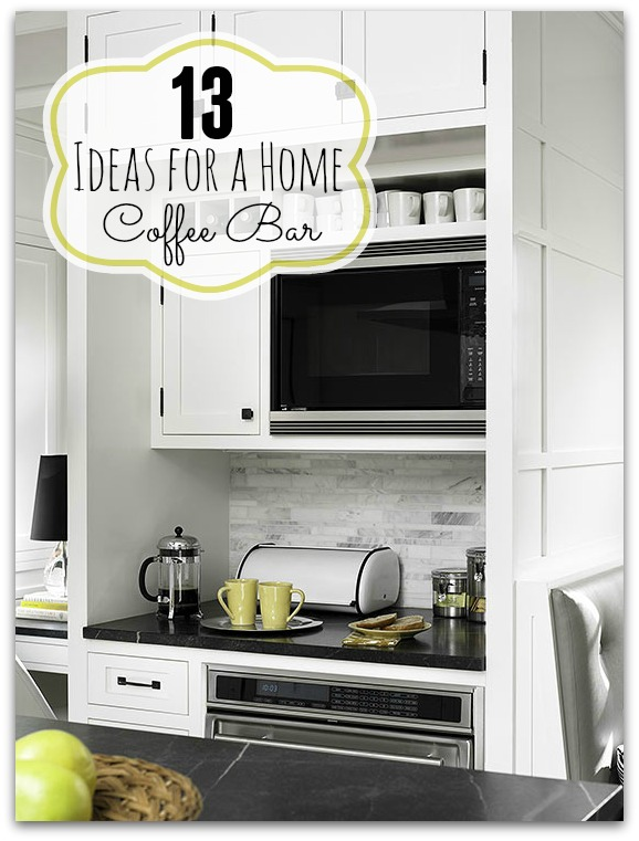 13 Ideas for a Home Coffee Bar via tipsaholic.com