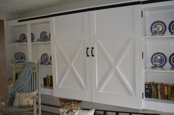 4 Generation 1 Roof faux barn door cabinet