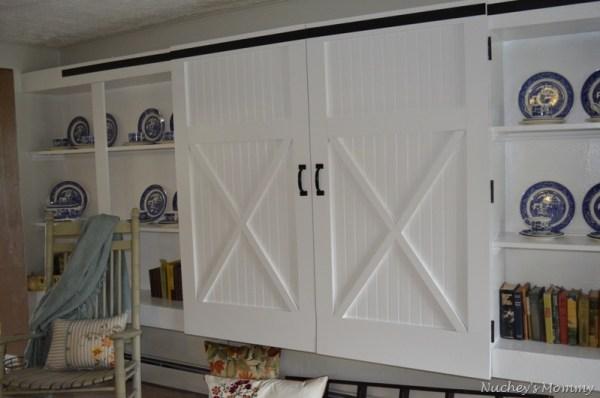 4 Generation 1 Roof faux barn door cabinet