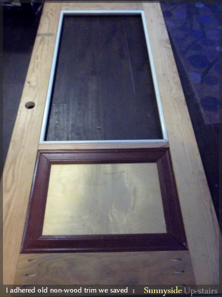 Adding a Glass Pane to a Hand Built Door by Sunnyside Up-stairs featured on @Remodelaholic