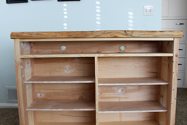 Create a Storage Hutch with Old Windows for Doors by Two Feet First featured on @Remodelaholic