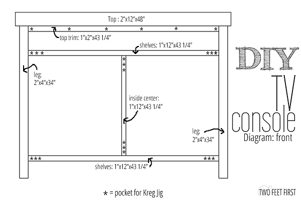 Create a TV Console Using Old Windows for Doors by Two Feet First featured on @Remodelaholic