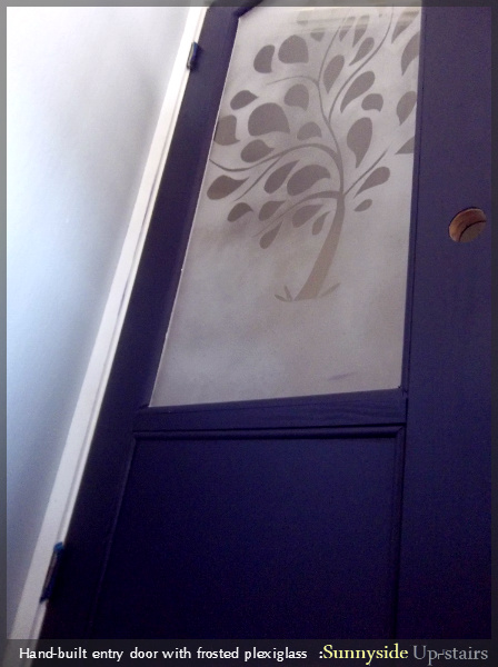 Create and Build a Frosted Glass Paned Entry Door by Sunnyside Up-stairs featured on @Remodelaholic